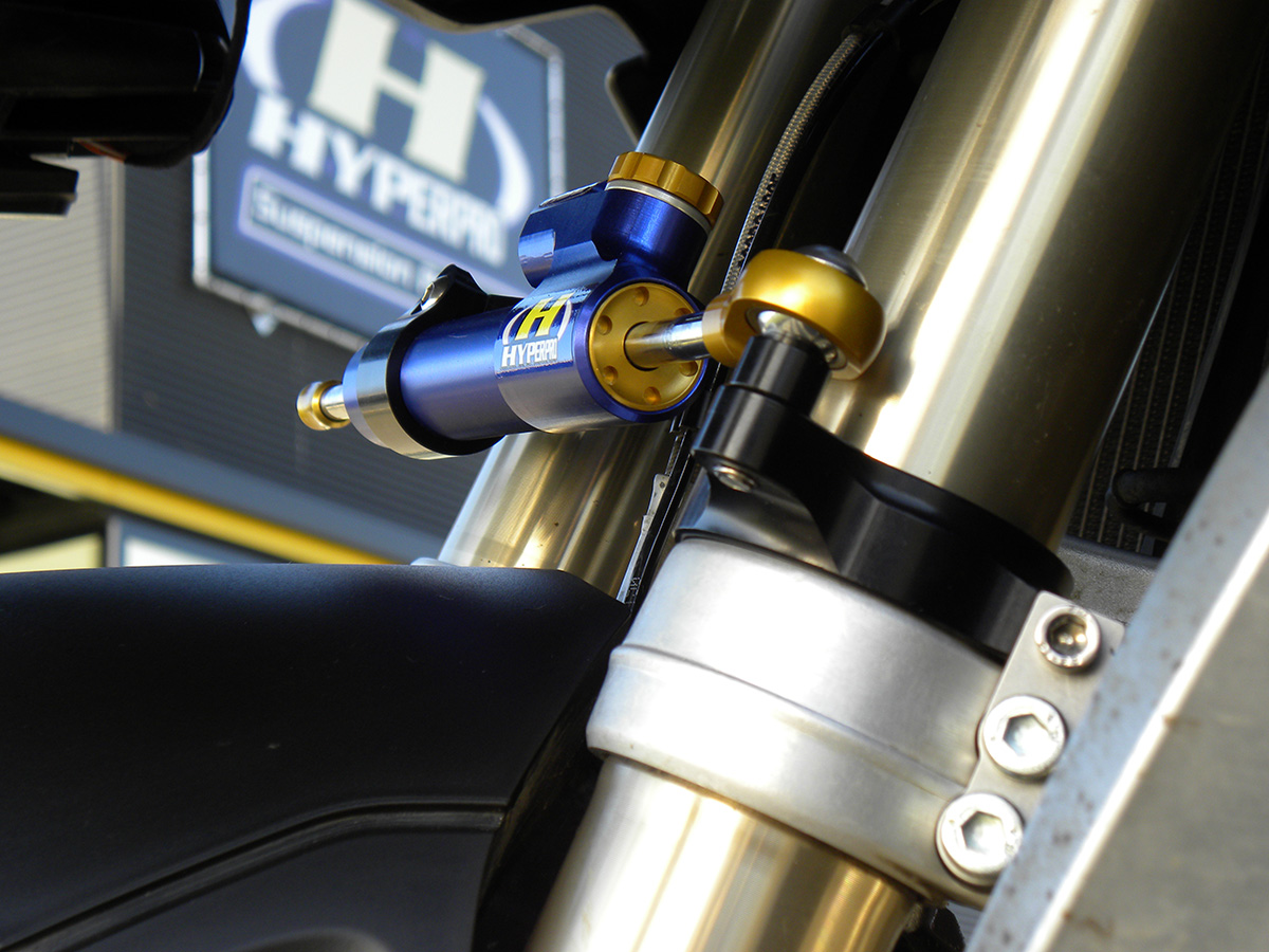how to change motorcycle steering
